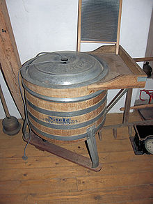 Elektrisch aangedreven Miele wasmachine oud model